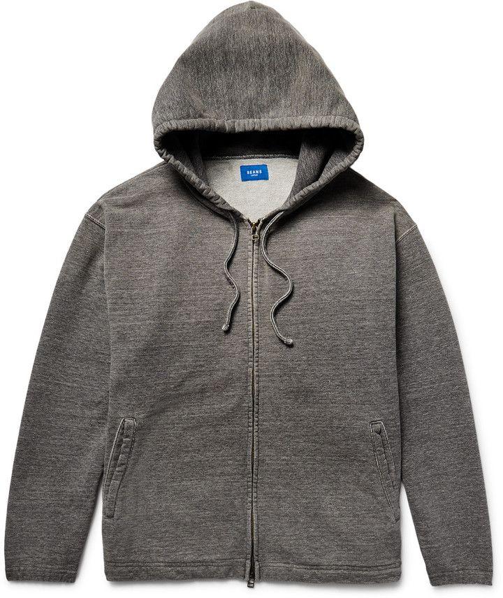 Beams Japan Loopback Cotton-Jersey Zip-Up Hoodie