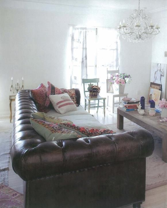 Rachel Ashwell Chesterfield Sofa <3