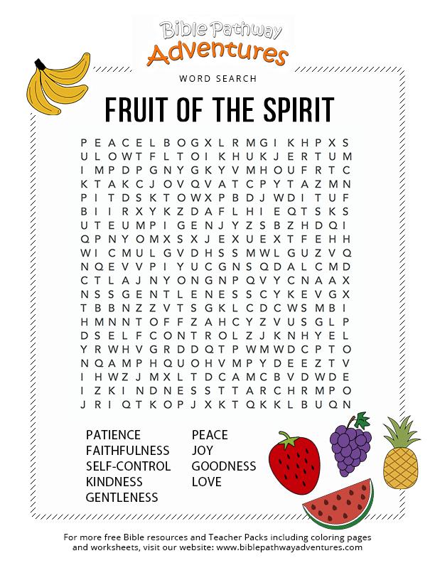 Fruit Of The Spirit Printables Uk Taken