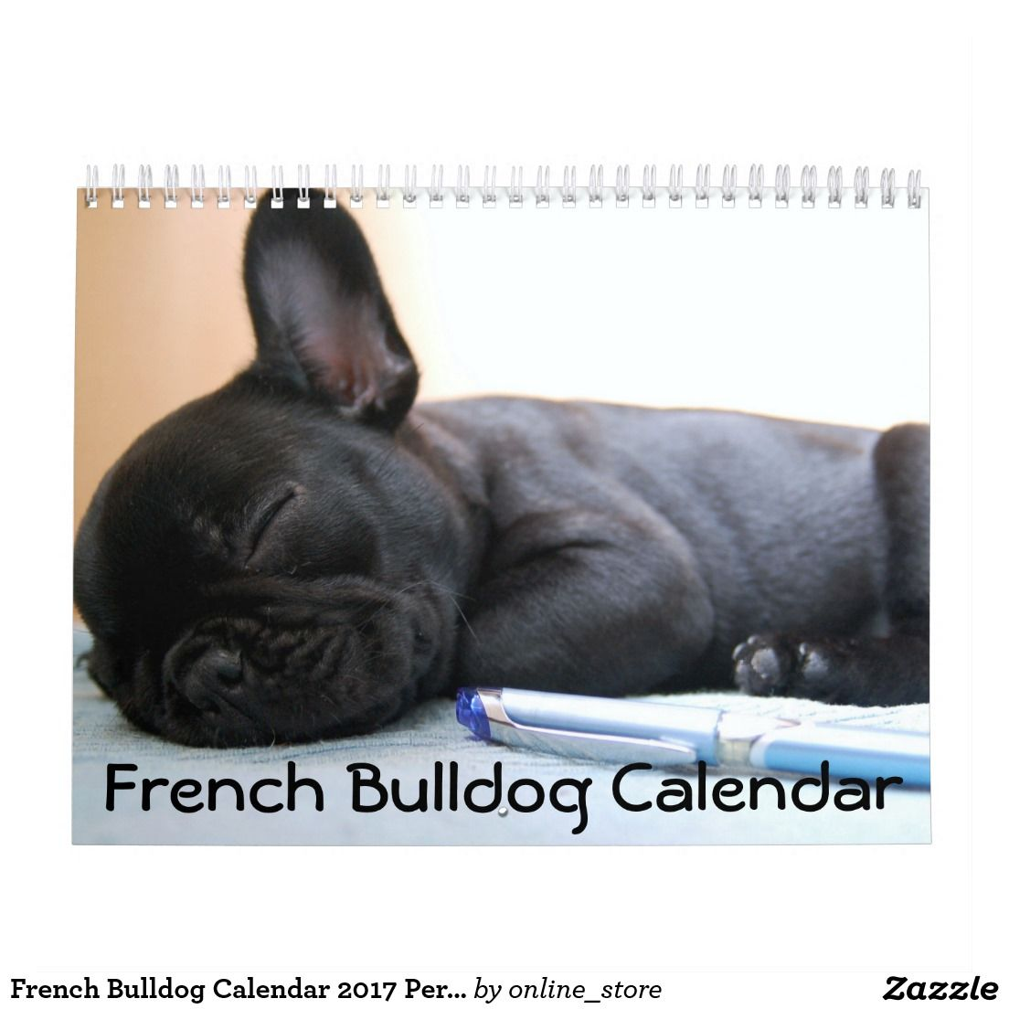 French Bulldog Calendar 2020 Personalized Zazzle Com French