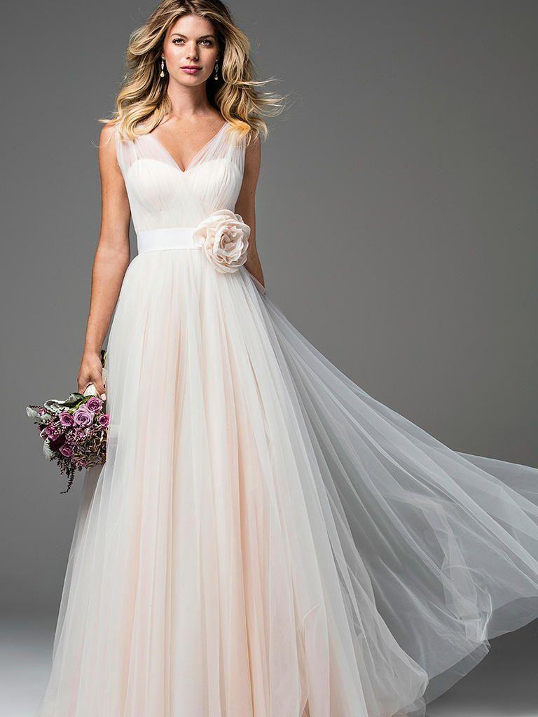 28 blush and light pink wedding dresses pink