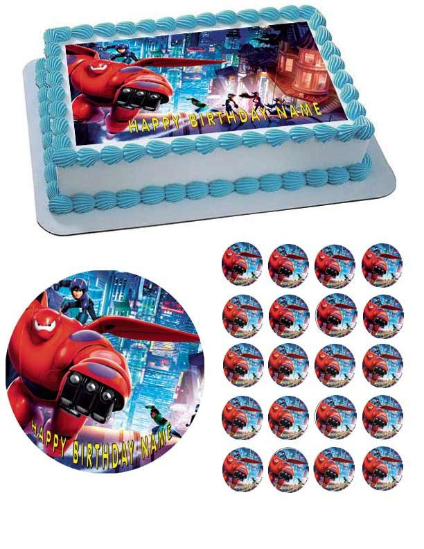 BIG HERO 6 1 Edible Birthday Cake Topper OR Cupcake Topper Decor