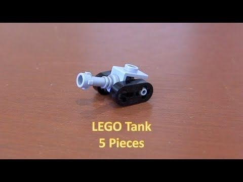 How To Build A Mini LEGO Tank 5 Pieces – YouTube