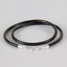 European charm leather necklace black 38 cm