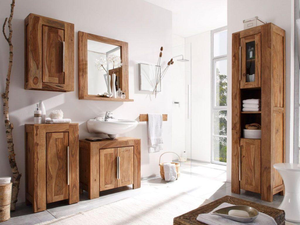 Badschrank Vollholz Badezimmer Gunstig Badmobel Holz Rustikale