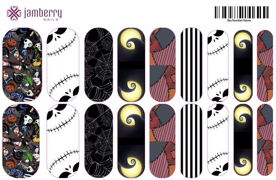 Nightmare before Christmas nail wraps for Halloween!! You know you ...