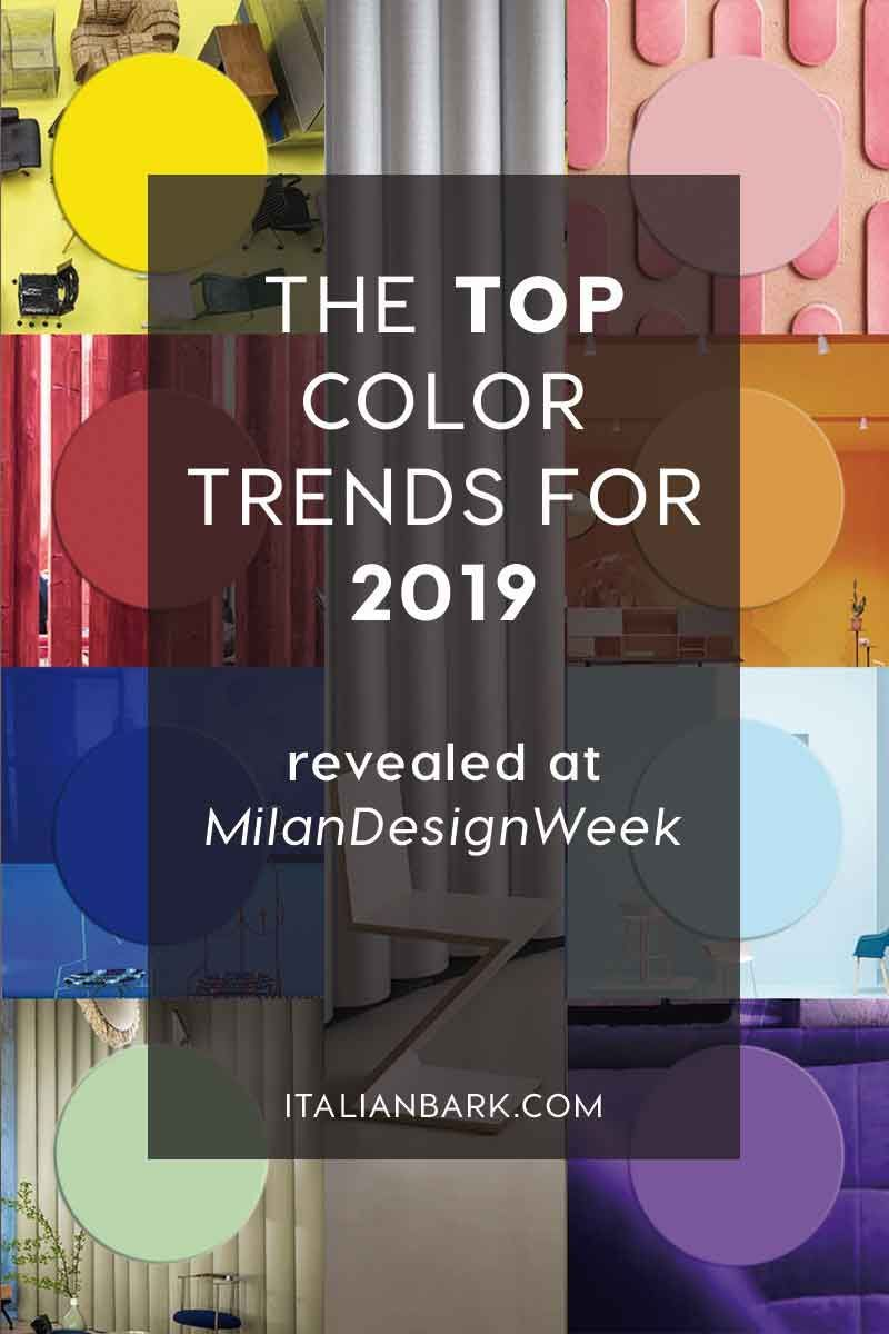 color trends 2019, interior design trends, italianbark interior