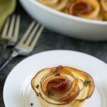 Oven Roasted Potato Bacon Roses #kartoffelrosenrezept