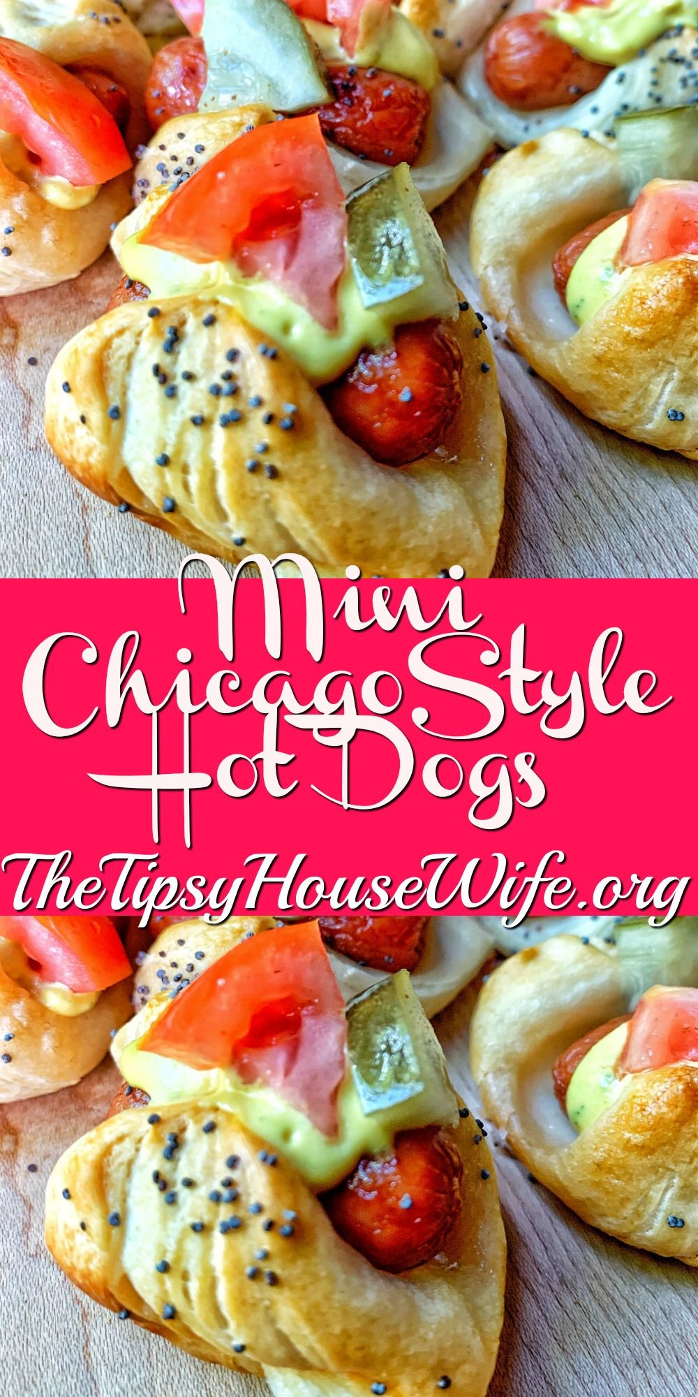Mini Chicago Style Hot Dogs