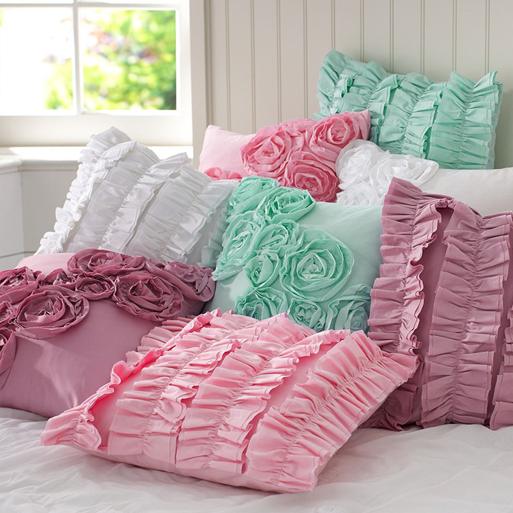 I think I ve repinned the same style ruffle pillows about five