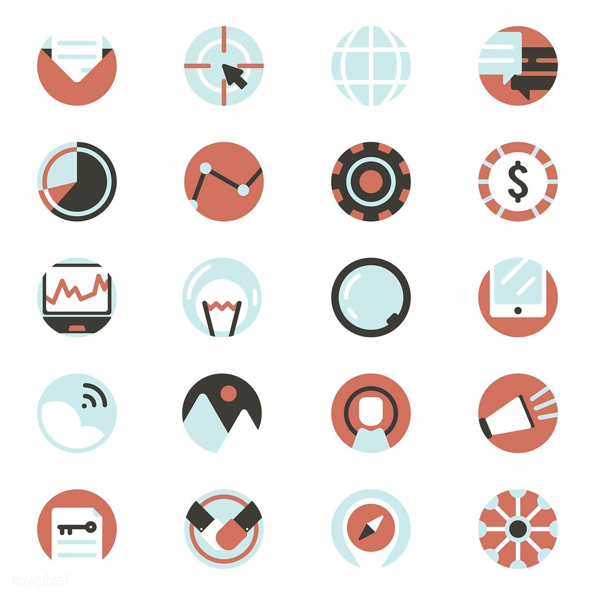 vector set of digital marketing icons marketing icon digital marketing vector free pinterest