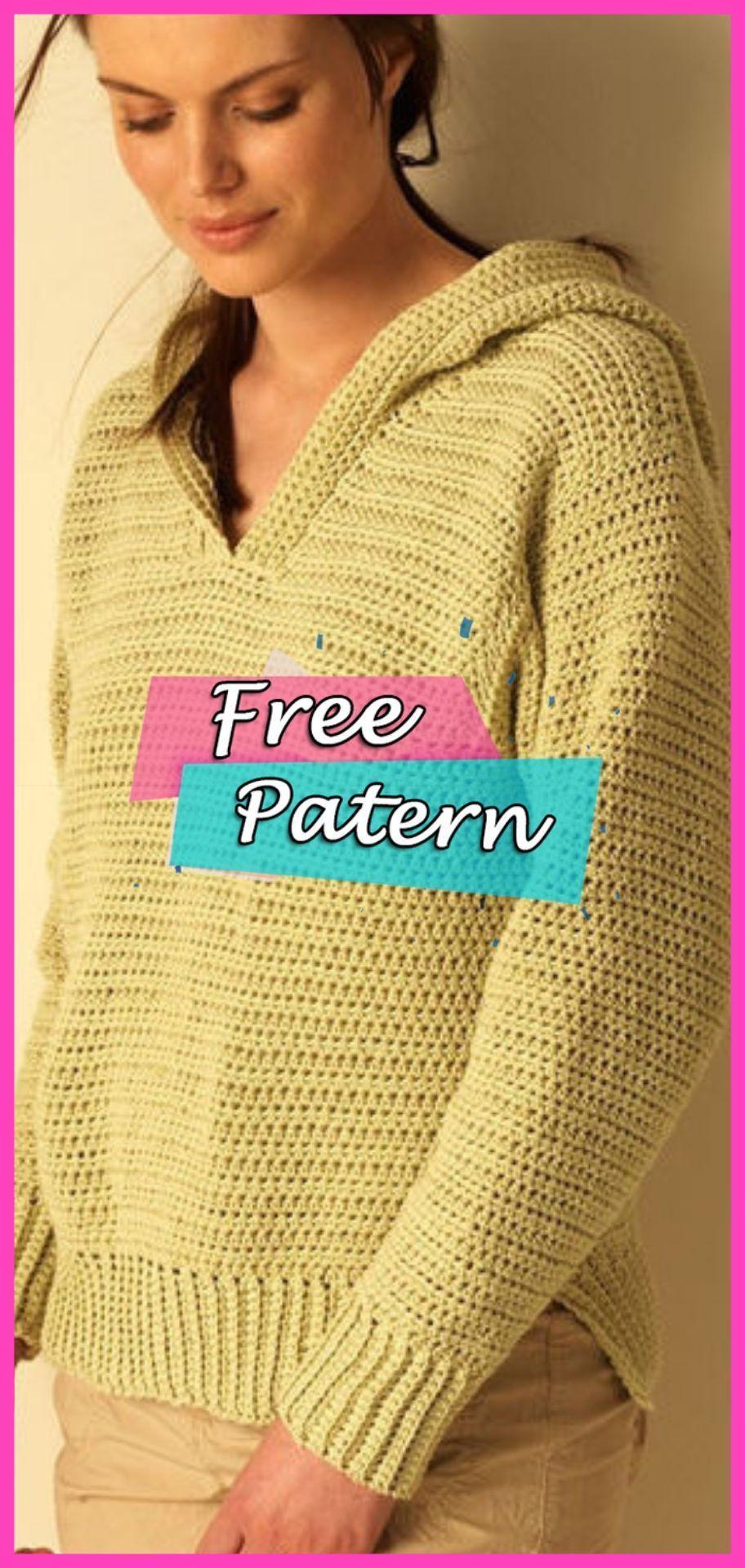 Free Easy Women's Sweater Crochet Pattern #crochet #crochetpatterns #freepattern #crocheting #crochetsweaterpatternwomen