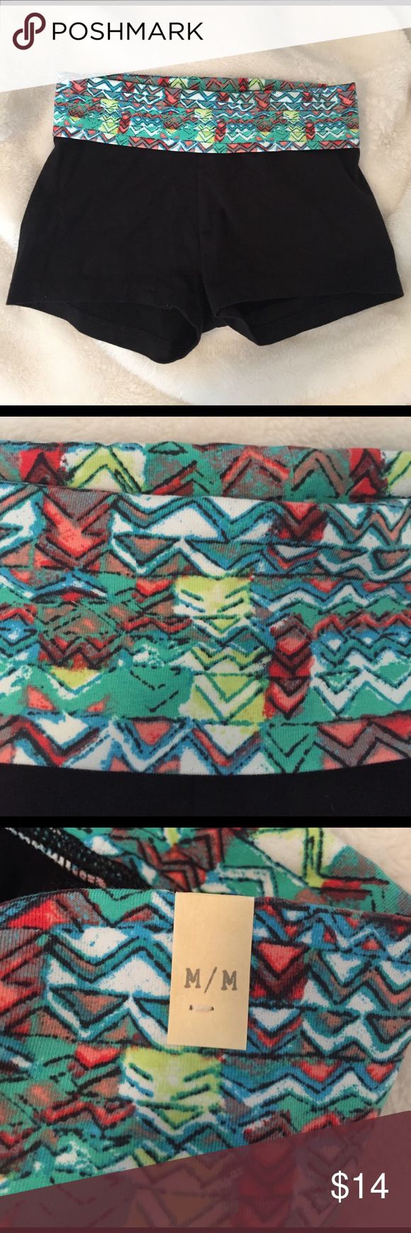 NWT Aerie Yoga Shorts NWT Aerie Yoga Shorts with multi colored Aztec band at the top aerie Shorts
