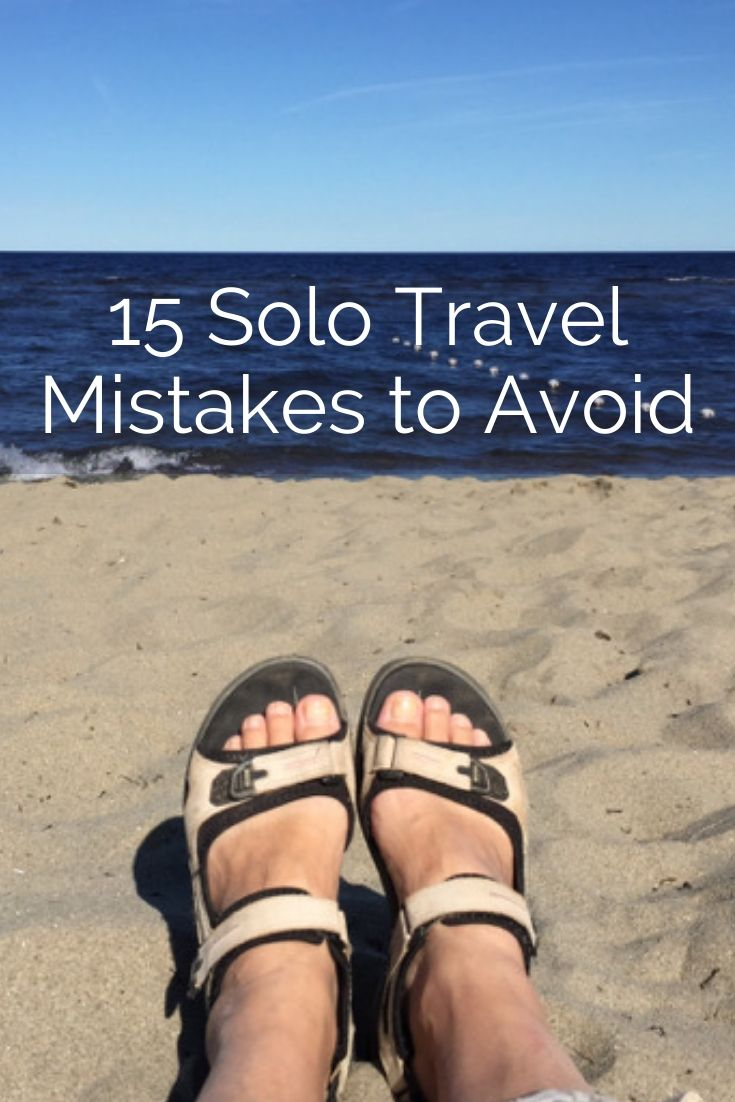 Traveling solo is a wonderful experience but you, alone, are responsible for your safety. Here are the most important travel mistakes that people make and how to avoid them. #travel #solotravel #travelalone #travelmistakes