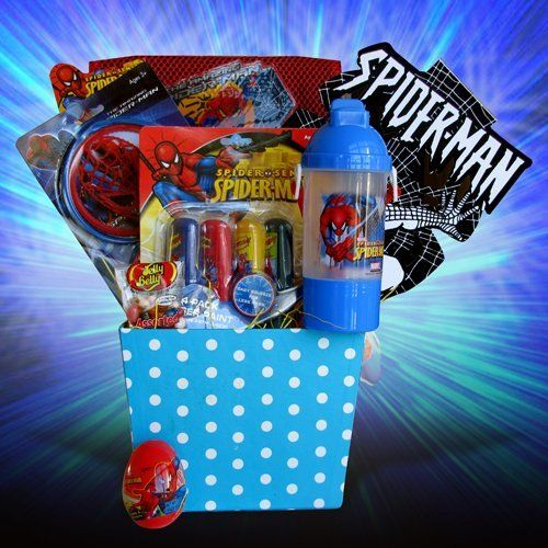 Easter gift baskets for boys spiderman by gift basket 4 kids easter gift baskets for boys spiderman by gift basket 4 kids http negle Image collections