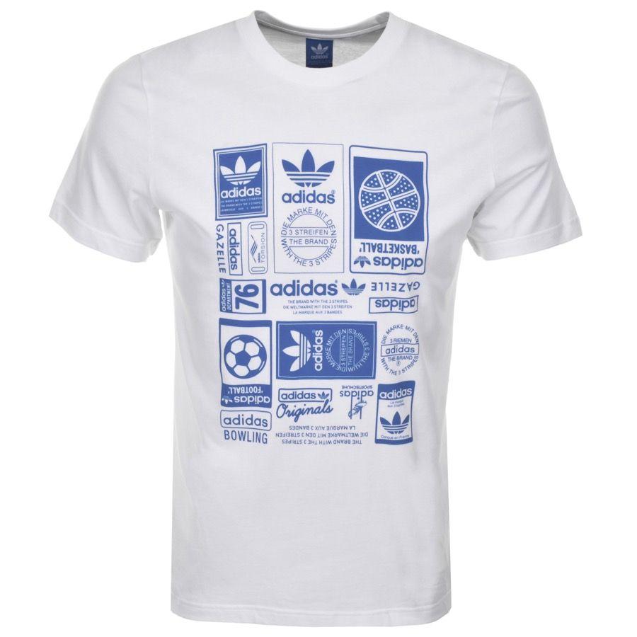 63b3ef2c2b2 Adidas Originals Vintage Trefoil T Shirt In White