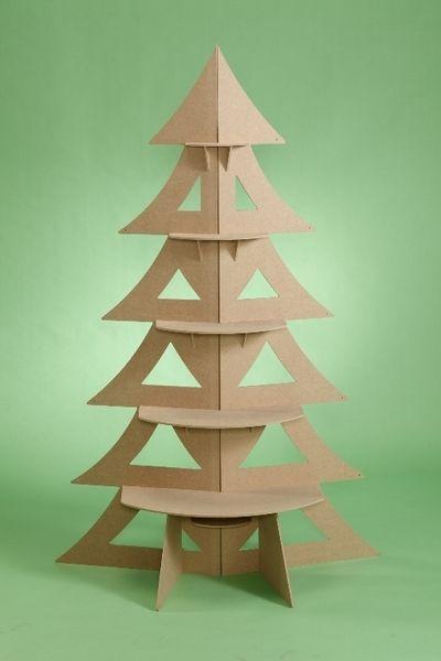 Sapin de Noël bois design original 1,6 m - Loisir créatif prêt à peindre & décorer