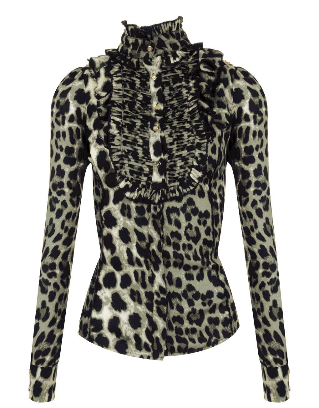 lange grijze blouse