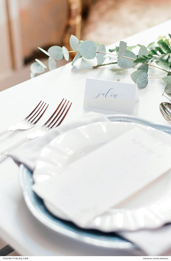 Rustic cutlery with simple menu |  Photography: Lauren Pretorius Photography | Coordination, styling & stationery: Happinest | Florals & floral styling: Bouwer Flowers