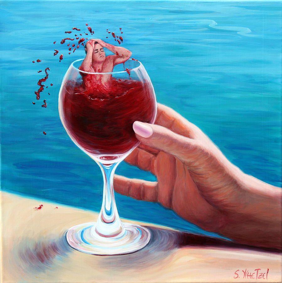 Sandi Whetzel Artist Website Wine Art Surreal Collage Art