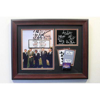 Legends of Art The Rat Pack at The Sands Framed Memorabilia Plaque ...