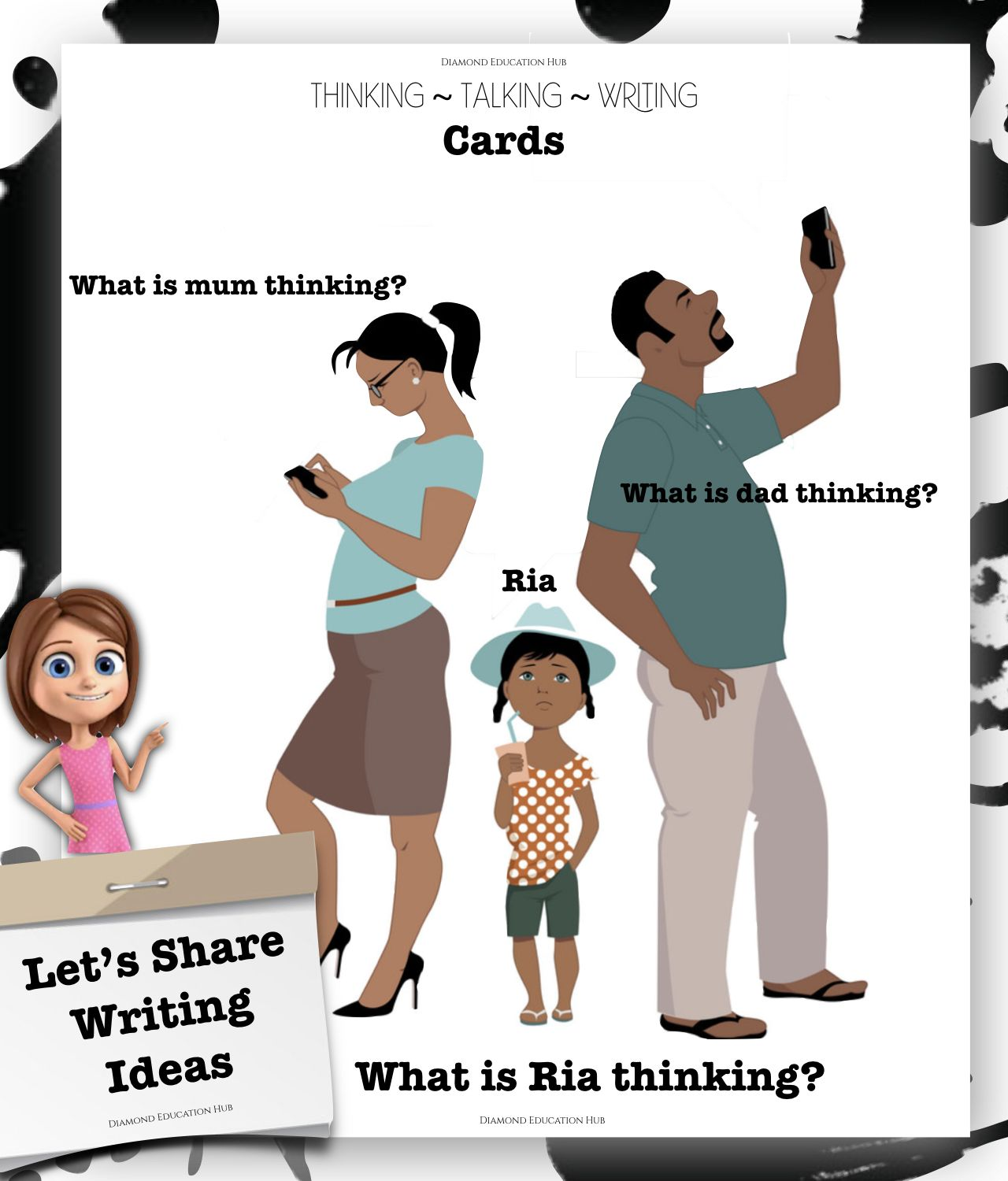 Thinking Cards Let S Share Writing Ideas Diamond