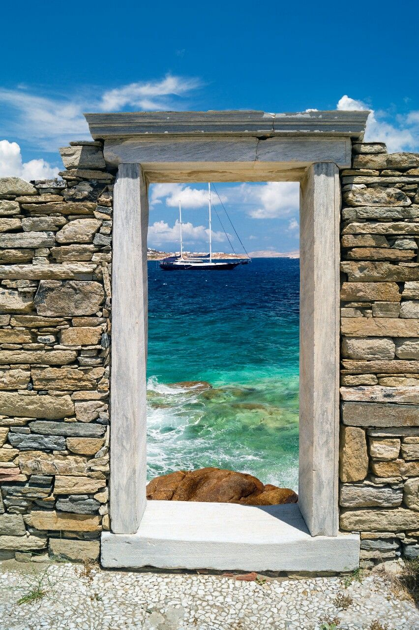 Rainbow In Your Eyes Destinationworld Delos Greece 海辺