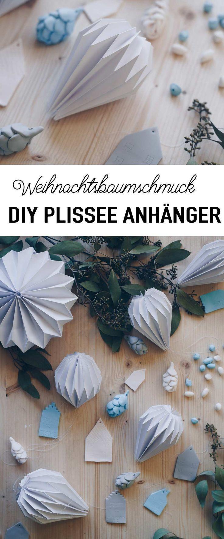 Photo of DIY Plissee Anhänger falten – Weihnachtsbaumanhänger aus Papier