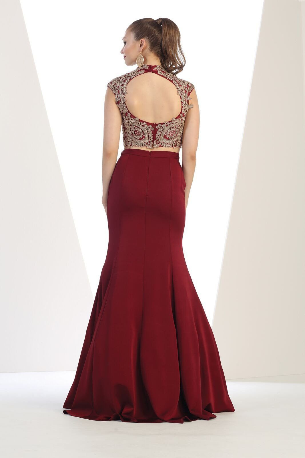 Long prom piece formal homecoming gown in products