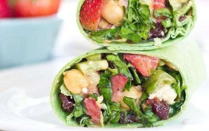 Strawberry Salad Wrap | MyFitnessPal - Yum - #MyFitnessPal #Salad #Strawberry #Wrap #Yum #myfitnesspalrecipes