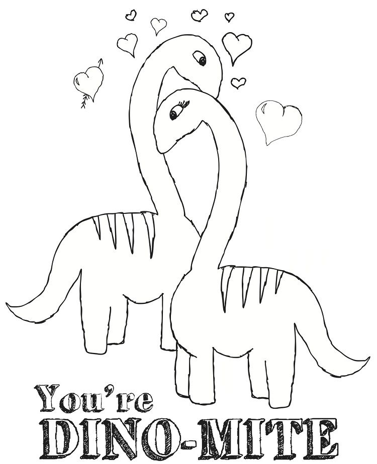 Dinosaur Valentine Coloring Pages For Kids Rhpinterestes: Valentine Coloring Pages Dinosaur At Baymontmadison.com