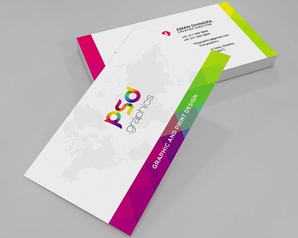 Colorful Business Card Free PSD Graphics Business Cards Design - Free business cards templates photoshop