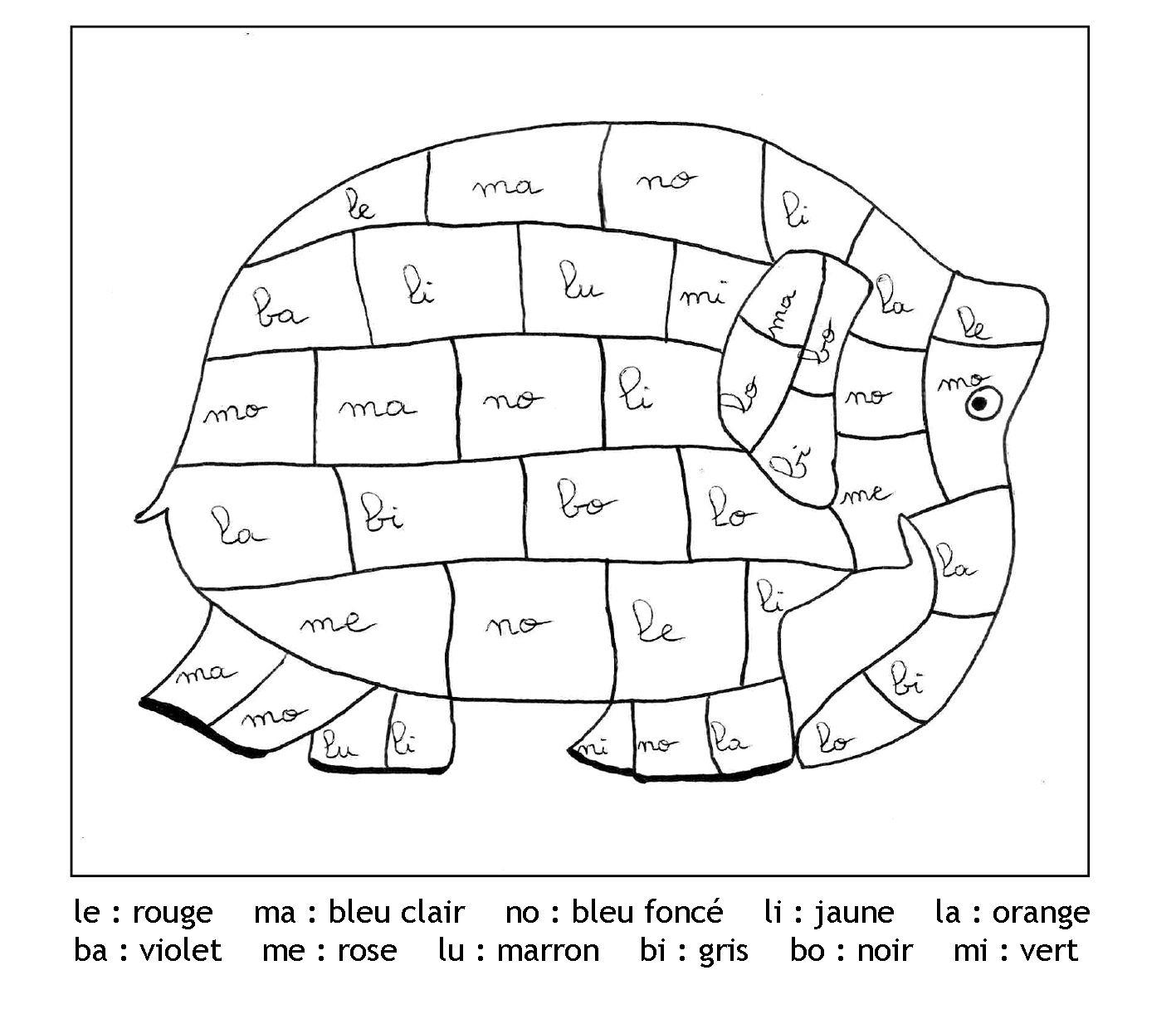 Pour imprimer ce coloriage gratuit coloriage magique gratuit syllabes elephant
