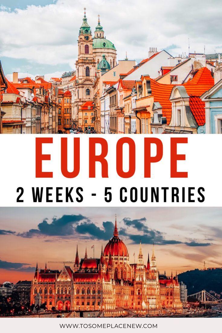 Central Europe Itinerary 2 weeks: Munich Prague Vienna Budapest Bratislava -