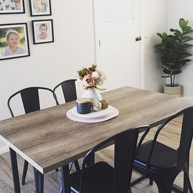 websta @ thekmartdiaries - the #kmart industrial table and chairs