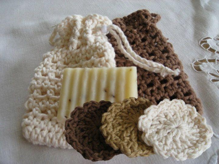 Soap Cozy & Scrubbies for Bath or Spa, Crochet Pattern PDF12-005 ...