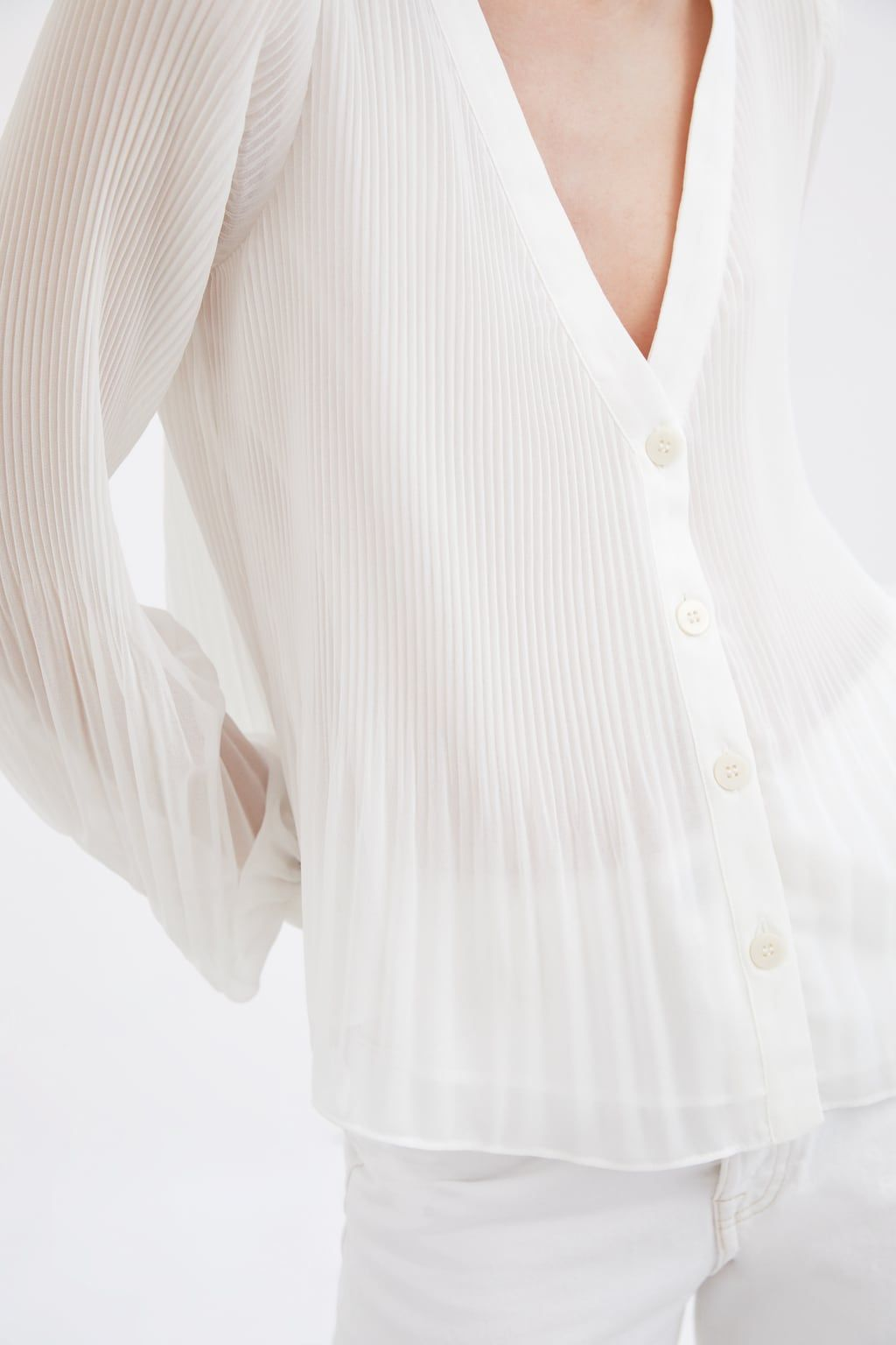 Camisa Plisada | izhan woman