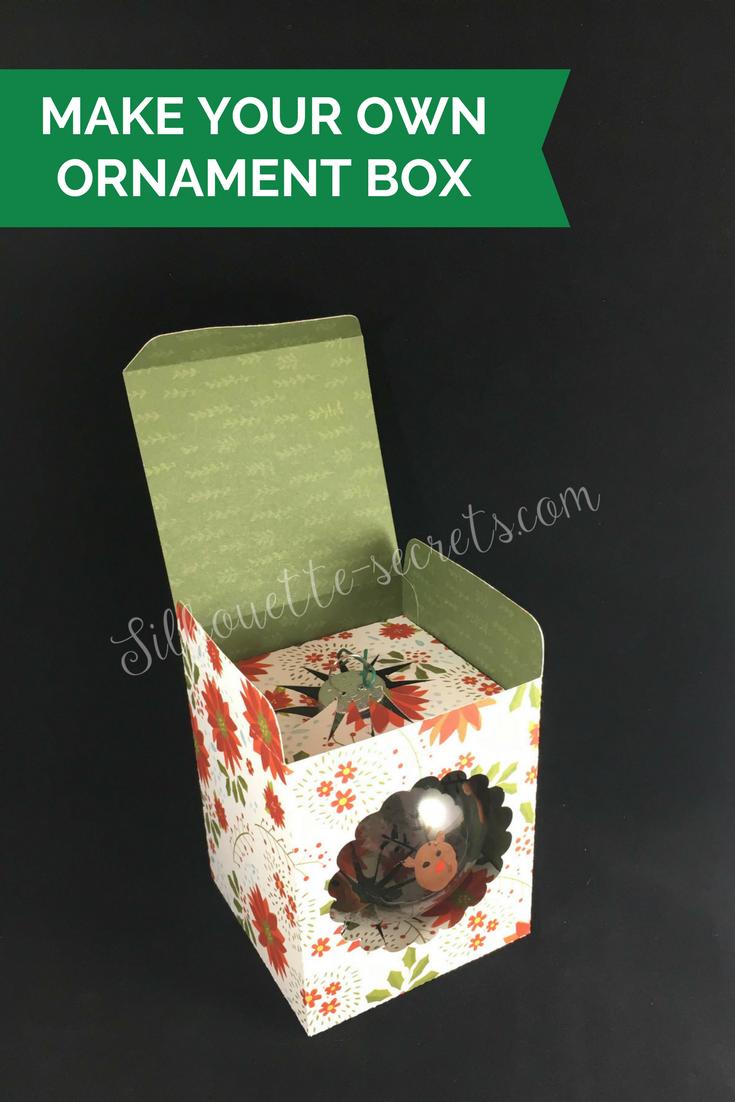 Goodbye 2017!! Silhouette ornaments, Ornament box