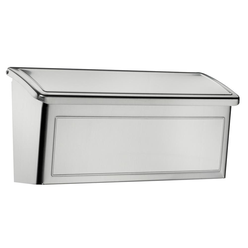 Architectural mailboxes venice stainless steel wall mount