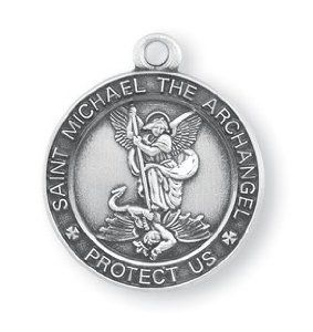 Saint michael medallion google search renata ren shepard saint michael medal inch sterling silver protect us pendant hmh aloadofball Image collections