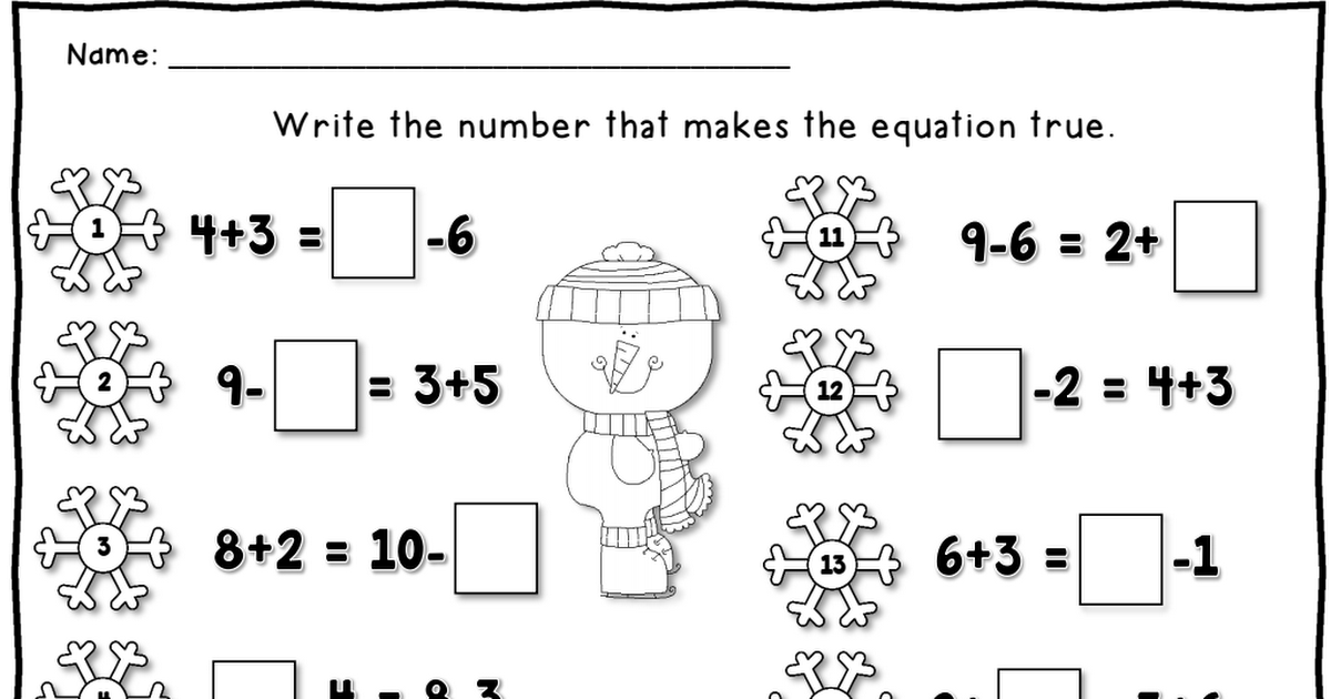 single equation worksheet Freebie.pdf