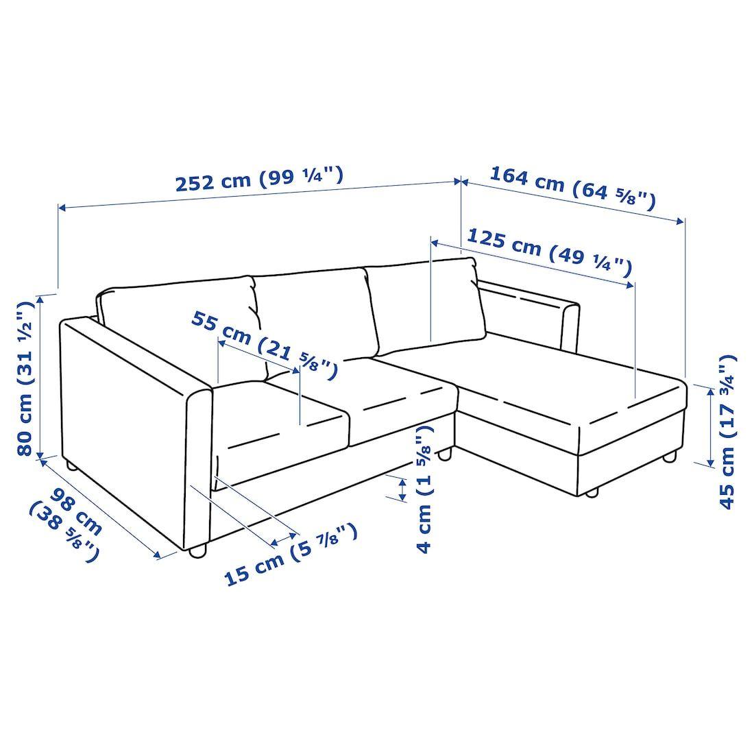Vimle Sofa With Chaise Farsta Dark Brown Ikea In 2020 Dark Brown Chaise Sofa