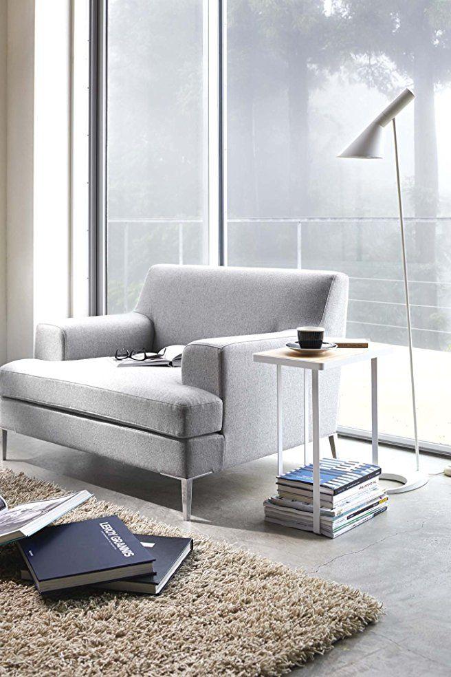 YAMAZAKI home Tower Side Table and Magazine Rack, White - design klassiker ferienwohnungen weimar