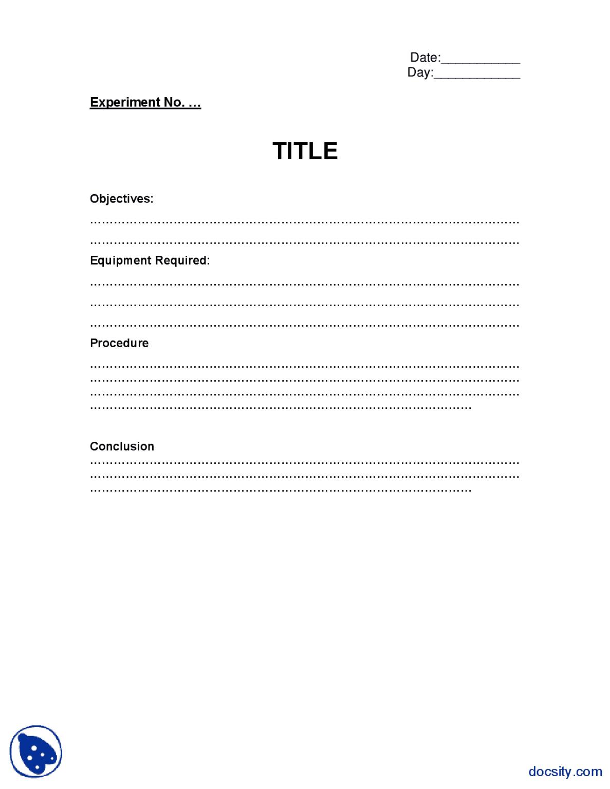 Lab Report Format Basic Electronics Lab Mannual