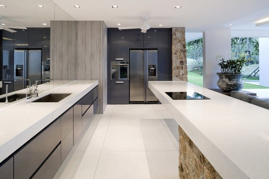 44 Grand Rectangular Kitchen Designs Pictures  Minimalist Open Cool Open Kitchens Designs Design Decoration
