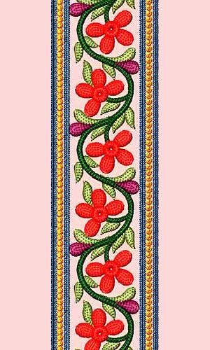 Lace Embroidery Design 12881 Faja Pinterest Embroidery Designs