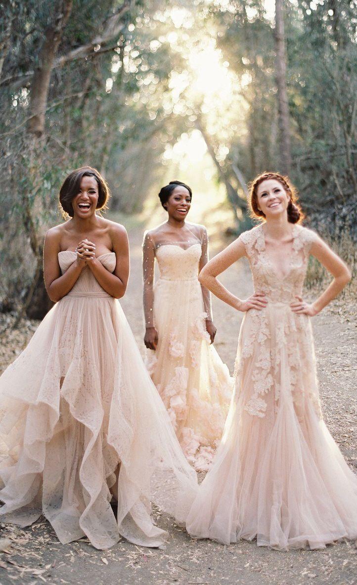 Stunning blush pink wedding dresses bridal fashion