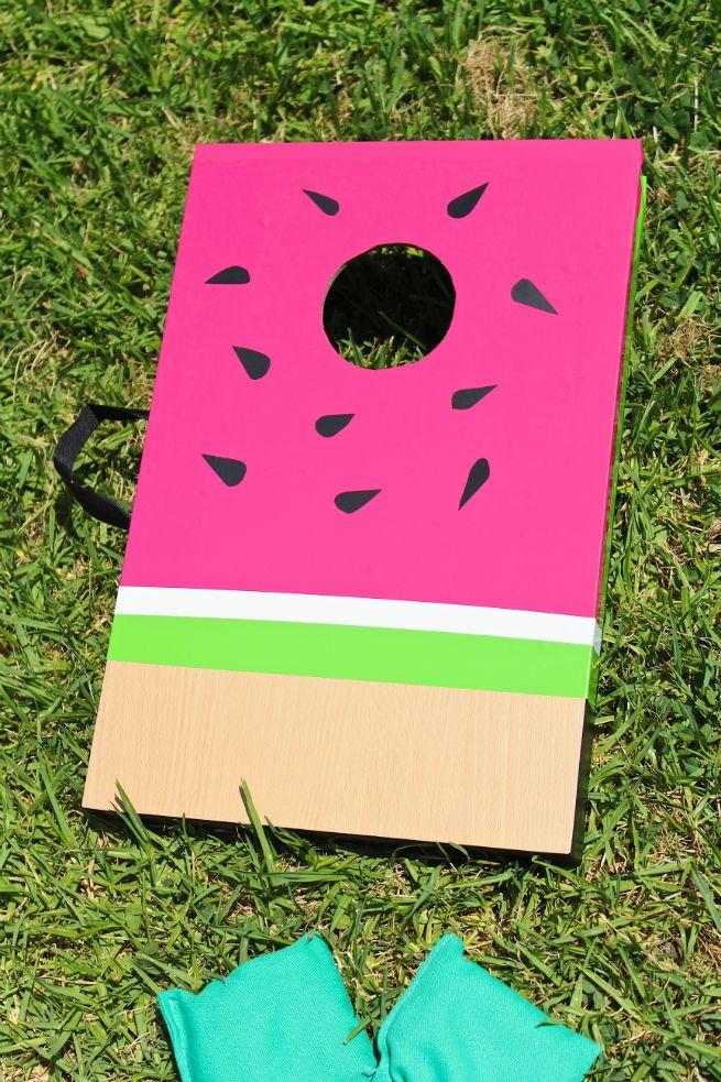 DIY Watermelon Cornhole Game! ⋆ Brite and Bubbly