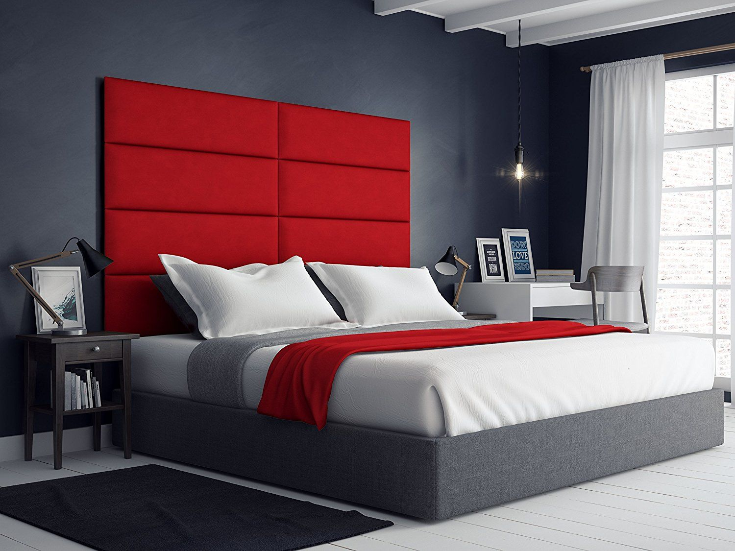 If You Are Looking For A Beautiful Comfortable And Elegant Looking Addition To Your King Size Be Upholstered Walls Upholstered Wall Panels King Size Headboard
