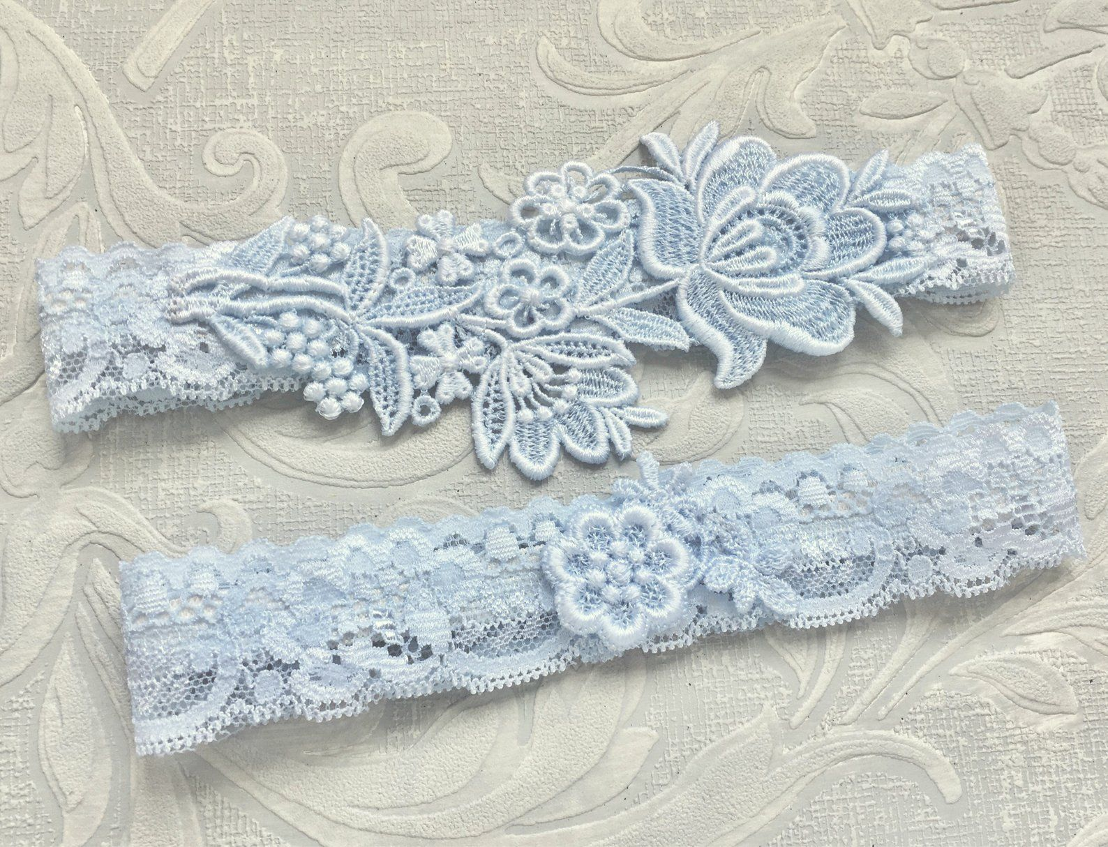 Blue Lace Wedding Garter Set Blue Garter Set Lace Garter Etsy Blue Garter Set Garter Set Wedding Garter Lace